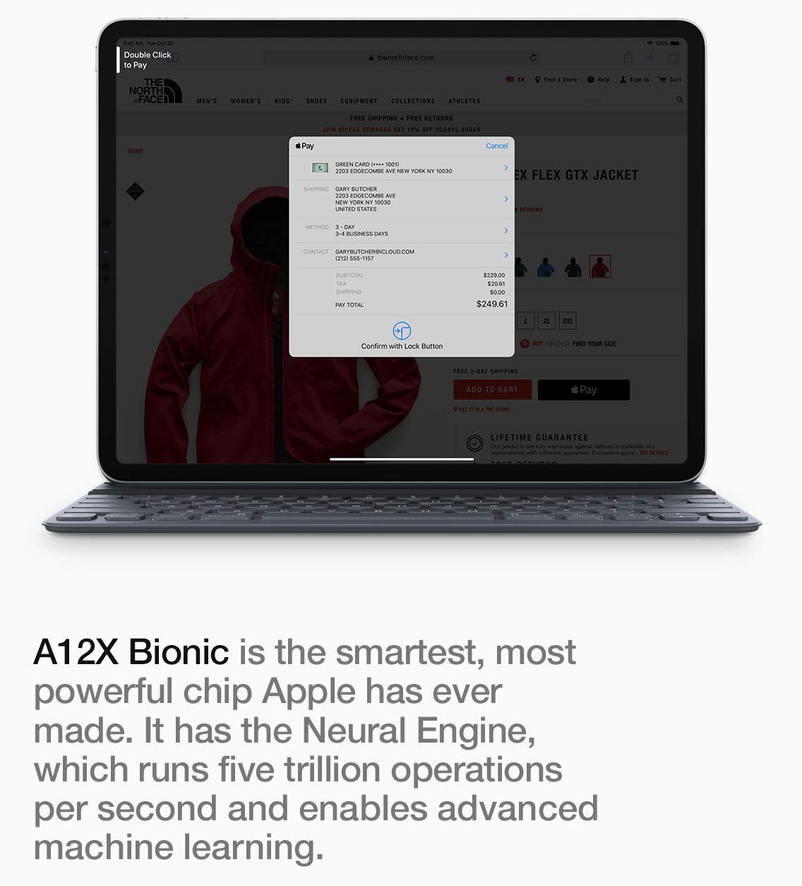 a12x bionic processor features advanced neural engine