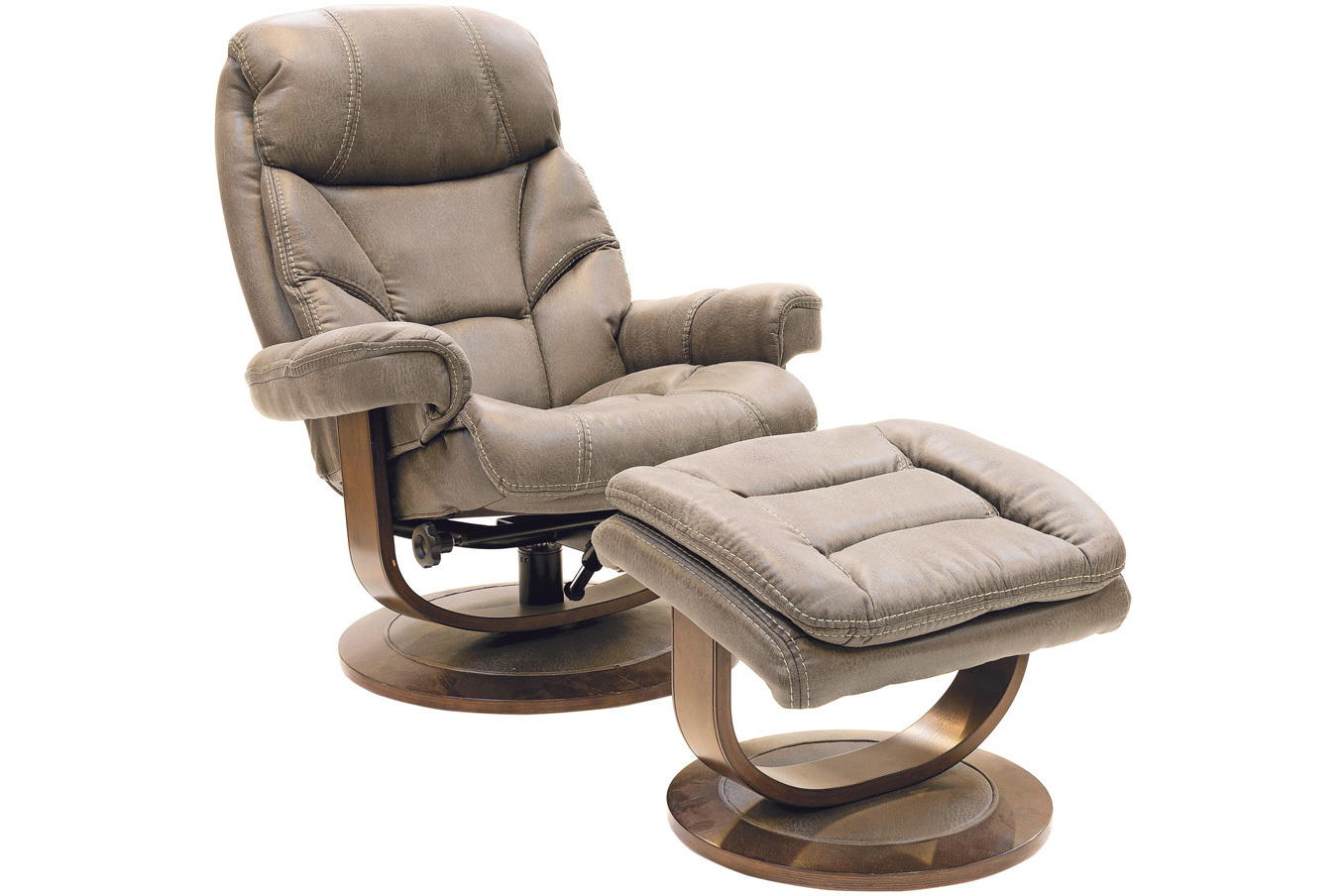 Cayenne Swivel Recliner with Footstool   Ireland