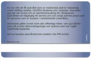 Europeiskt sjukvårdskort