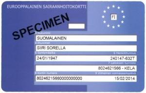 Kela Eurooppalainen Sairaanhoitokortti