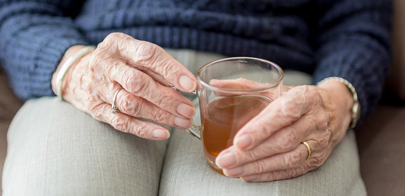 elderly womans hands