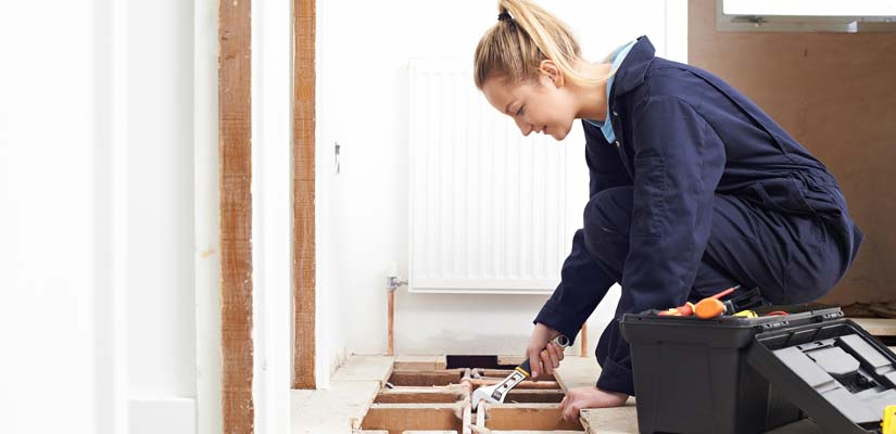 Plumber fitting central heating system