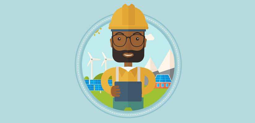 renewables installer cartoon