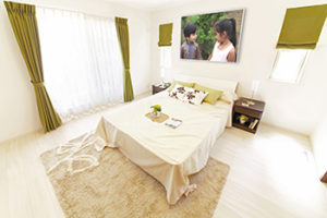 bedroom with infrared heating