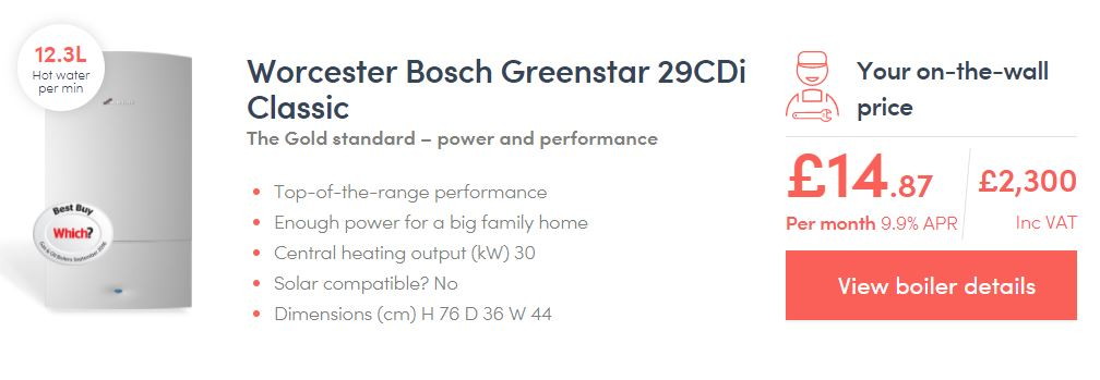 Worcester Bosch 29cdi compact Gas Boiler