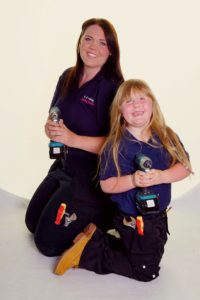 Lauren E Plumbing with her daughter
