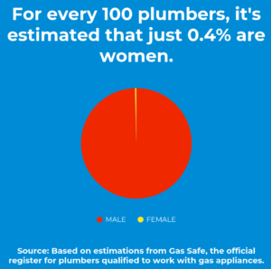 UK Plumbers by Gender Pie Chart