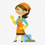 218 2181795 diamond cleaning services pdx cleaning lady cartoon png