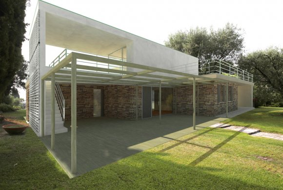 This renovation is going to change the identity of the existing house.