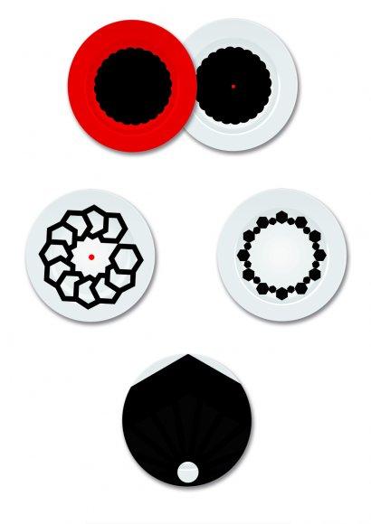 I piatti Suaren possono essere utilizzati per personalizzare la propria tavola o per decorare le pareti. Possono essere prodotti in pezzi limitati. Vengono stampati e cotti, resistono al graffio e ai lavaggi in lavastoviglie.