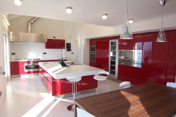 cucina rossa !