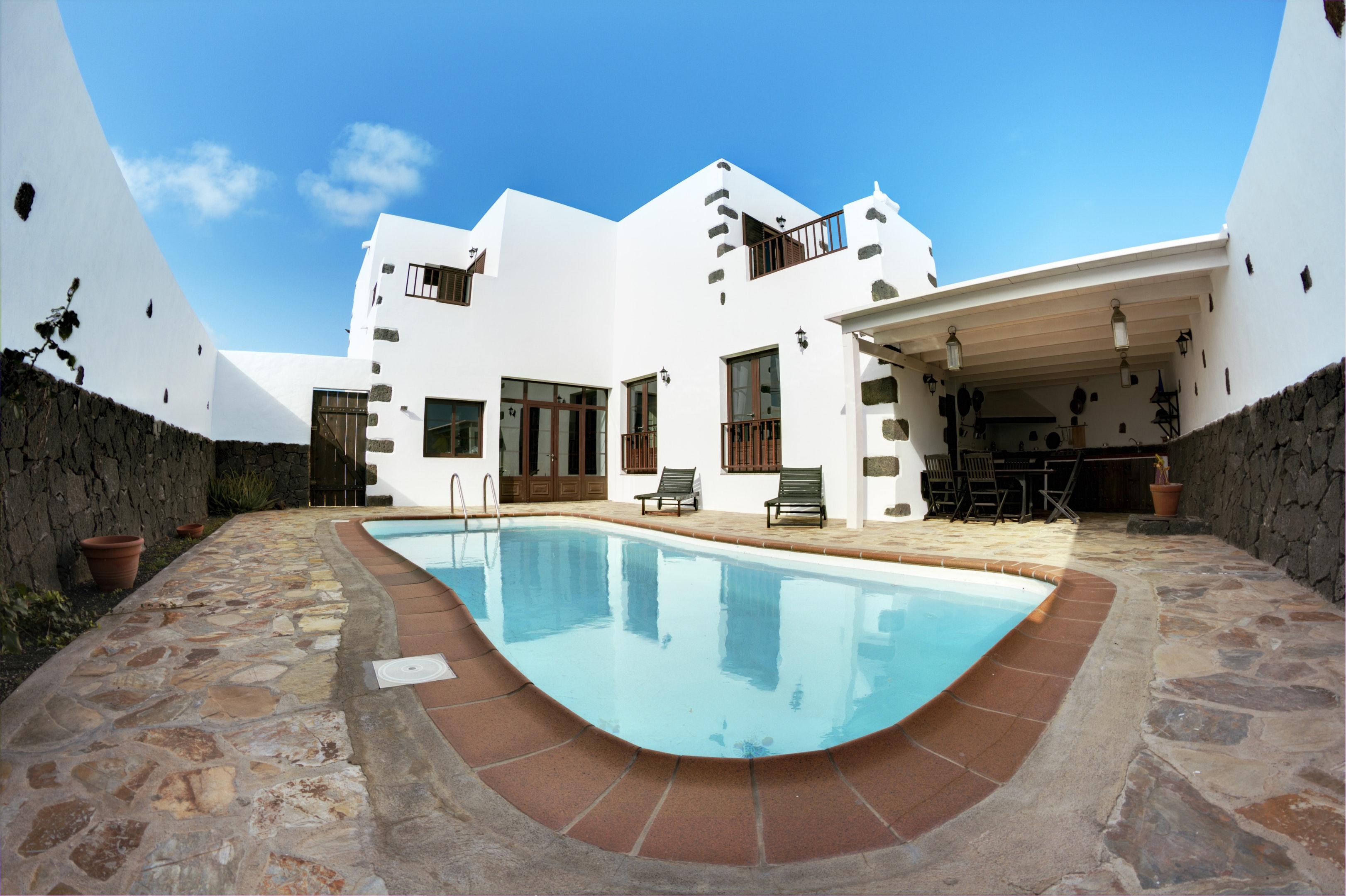 Haus mit 3 Schlafzimmern in Tinajo mit toller Auss Ferienhaus  Lanzarote