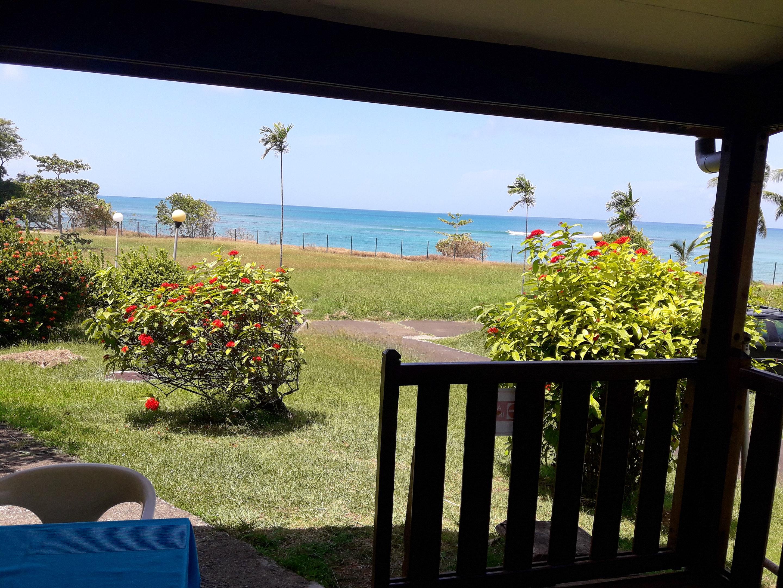 Apartamento de una habitación en La Trinité, con magnificas vistas al mar, jardín amueblado y WiFi - a 100 m de la playa