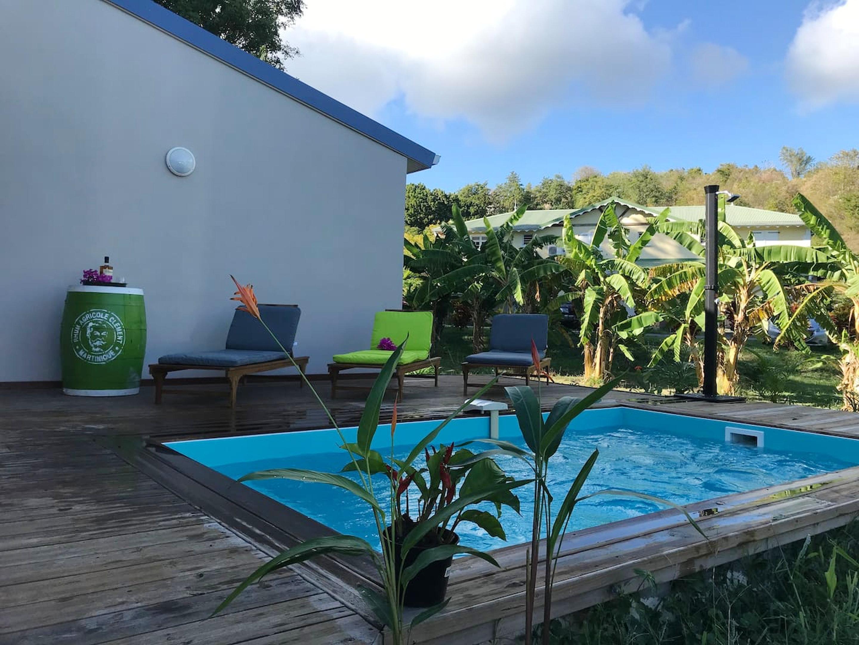 Villa de 2 habitaciones en Le Diamant, con piscina privada, jardín cerrado y WiFi - a 150 m de la playa