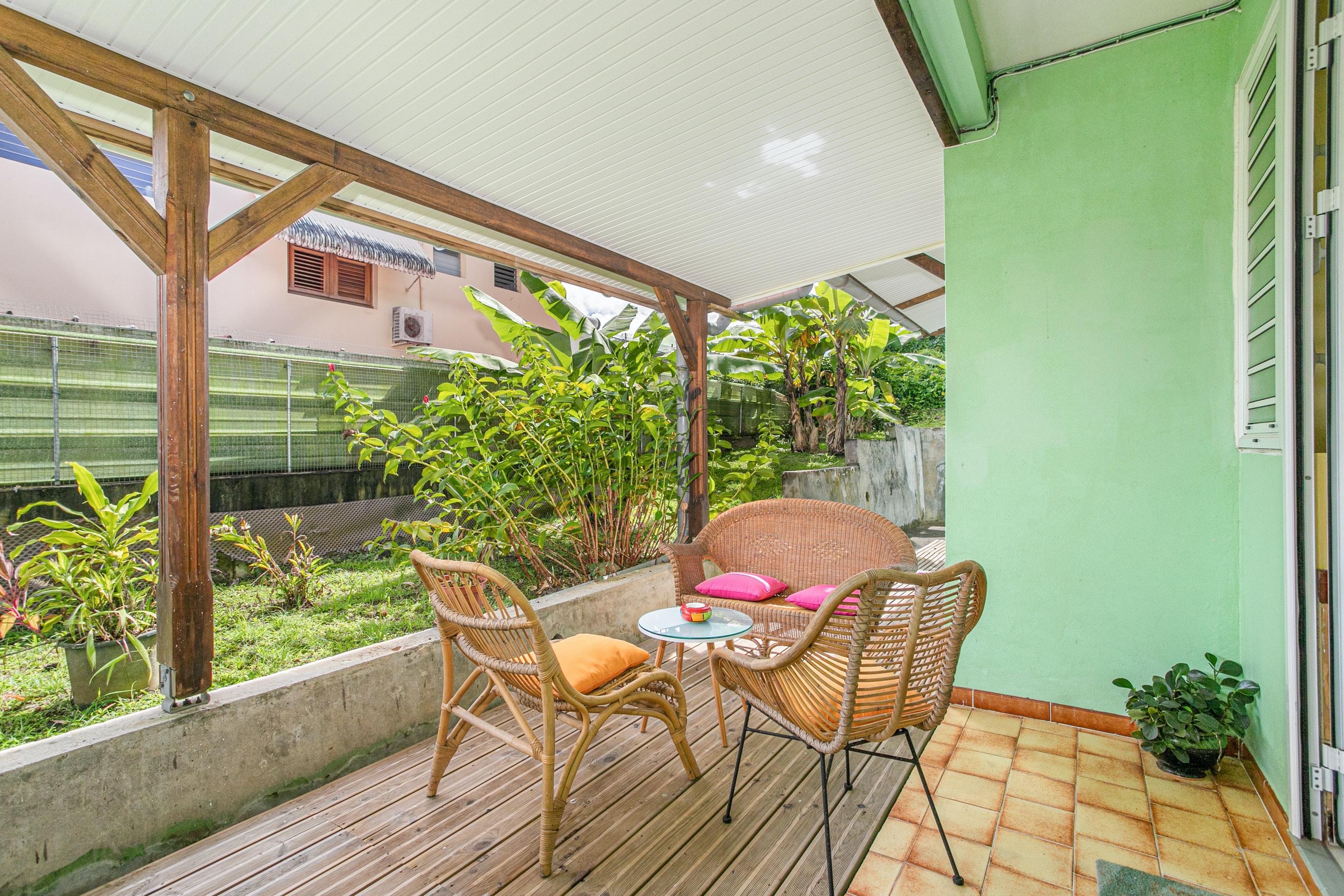 Apartamento de 2 habitaciones en Fort-de-France, con jardín amueblado y WiFi - a 5 km de la playa