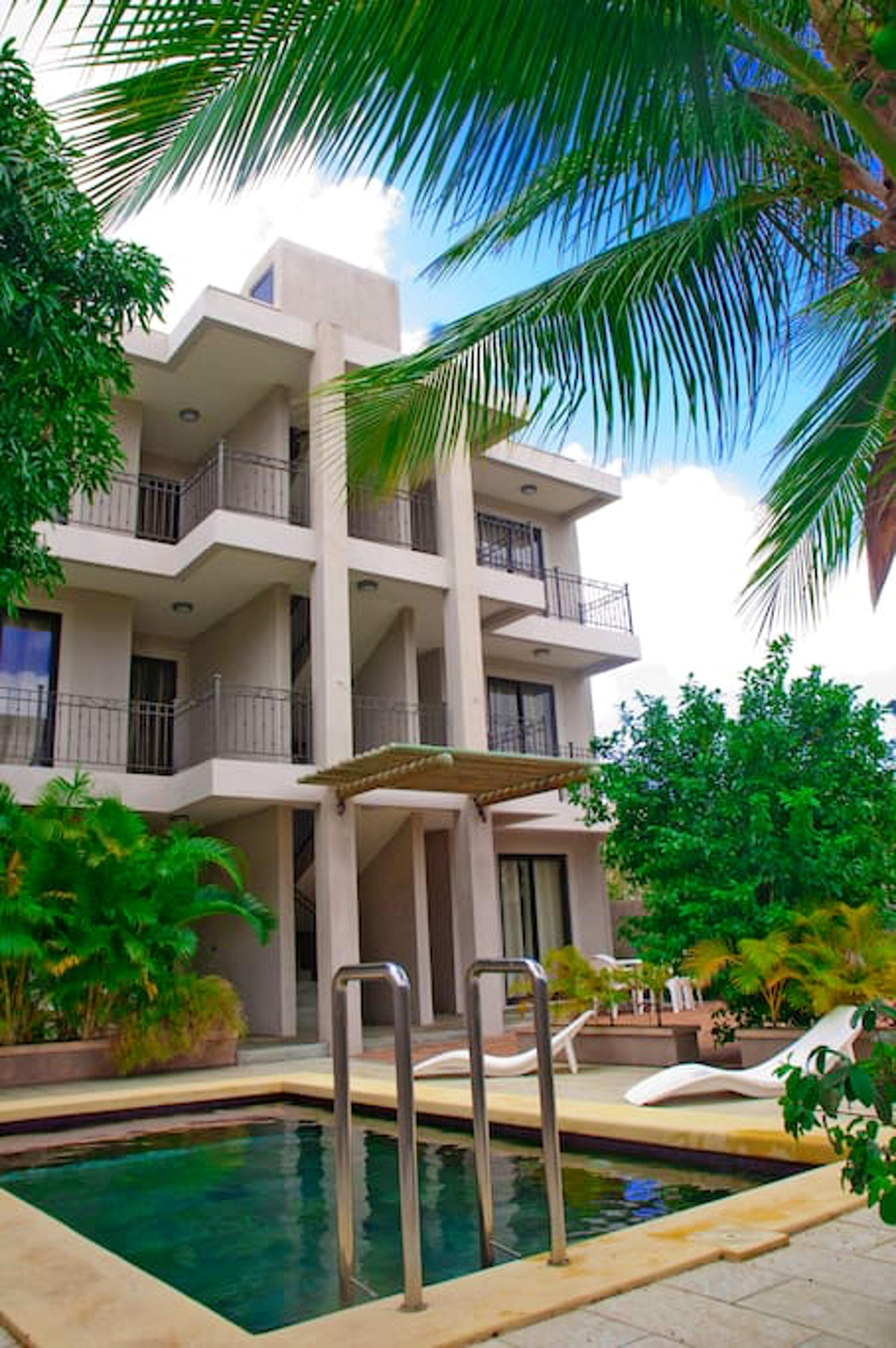 Wohnung mit 2 Schlafzimmern in Mon Choisy, Grand Baie mit Pool, Terrasse und W-LAN