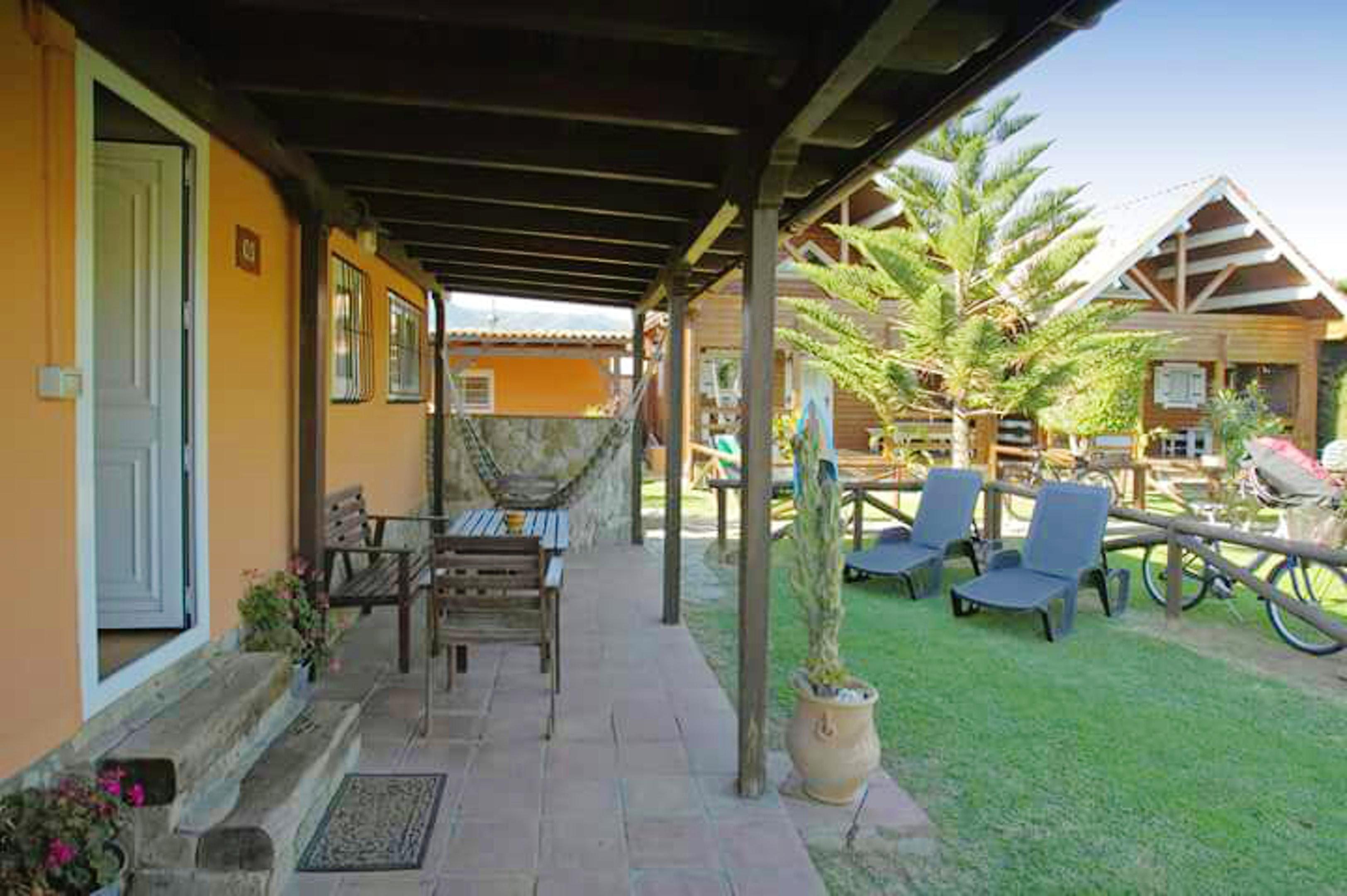 Bungalow mit 2 Schlafzimmern in Tarifa mit toller  Hütte in Spanien