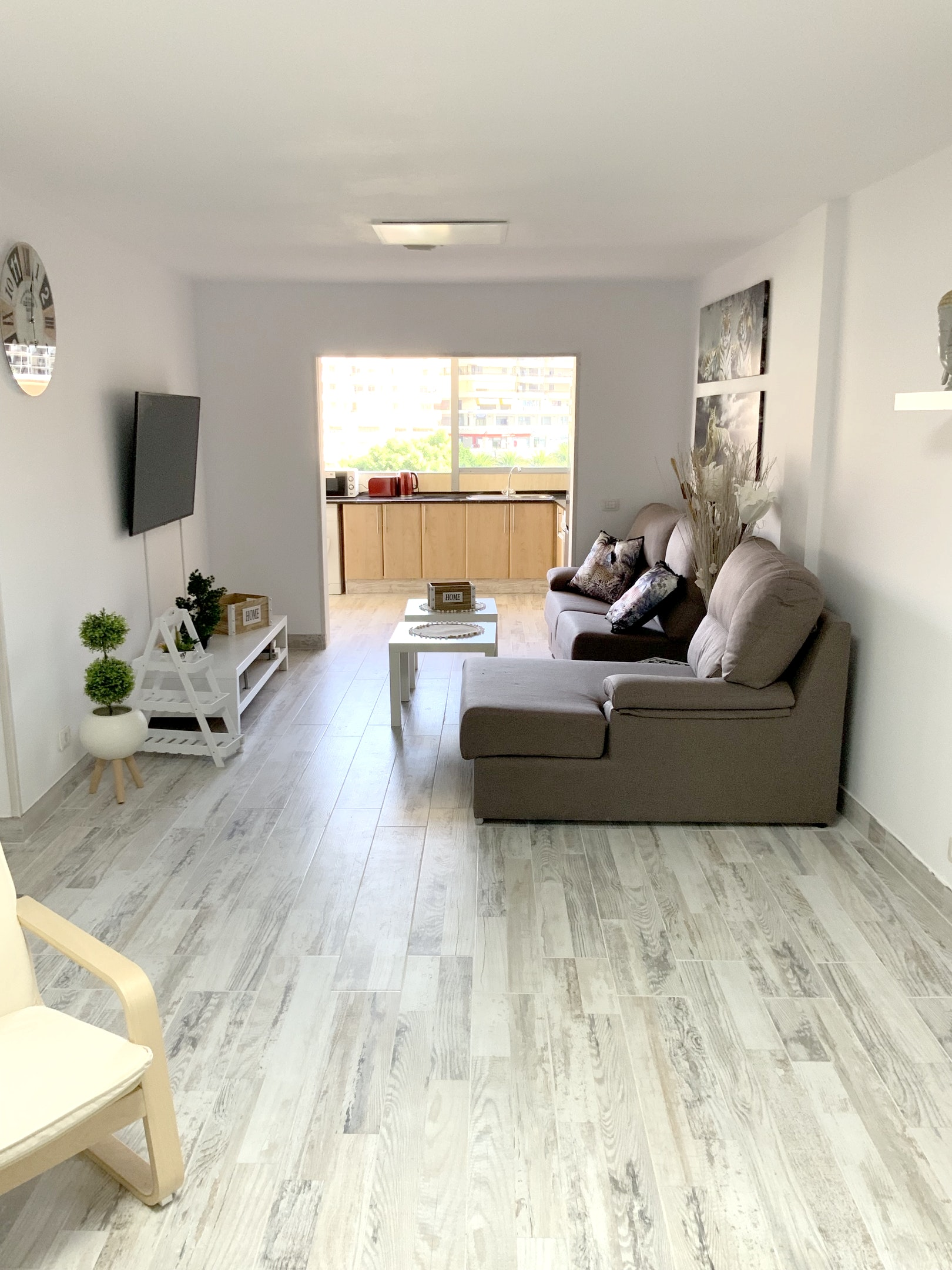 Appartement de vacances Wohnung mit 2 Schlafzimmern in Los Cristianos mit toller Aussicht auf die Berge, eingezäun (2202481), Los Cristianos, Ténérife, Iles Canaries, Espagne, image 2