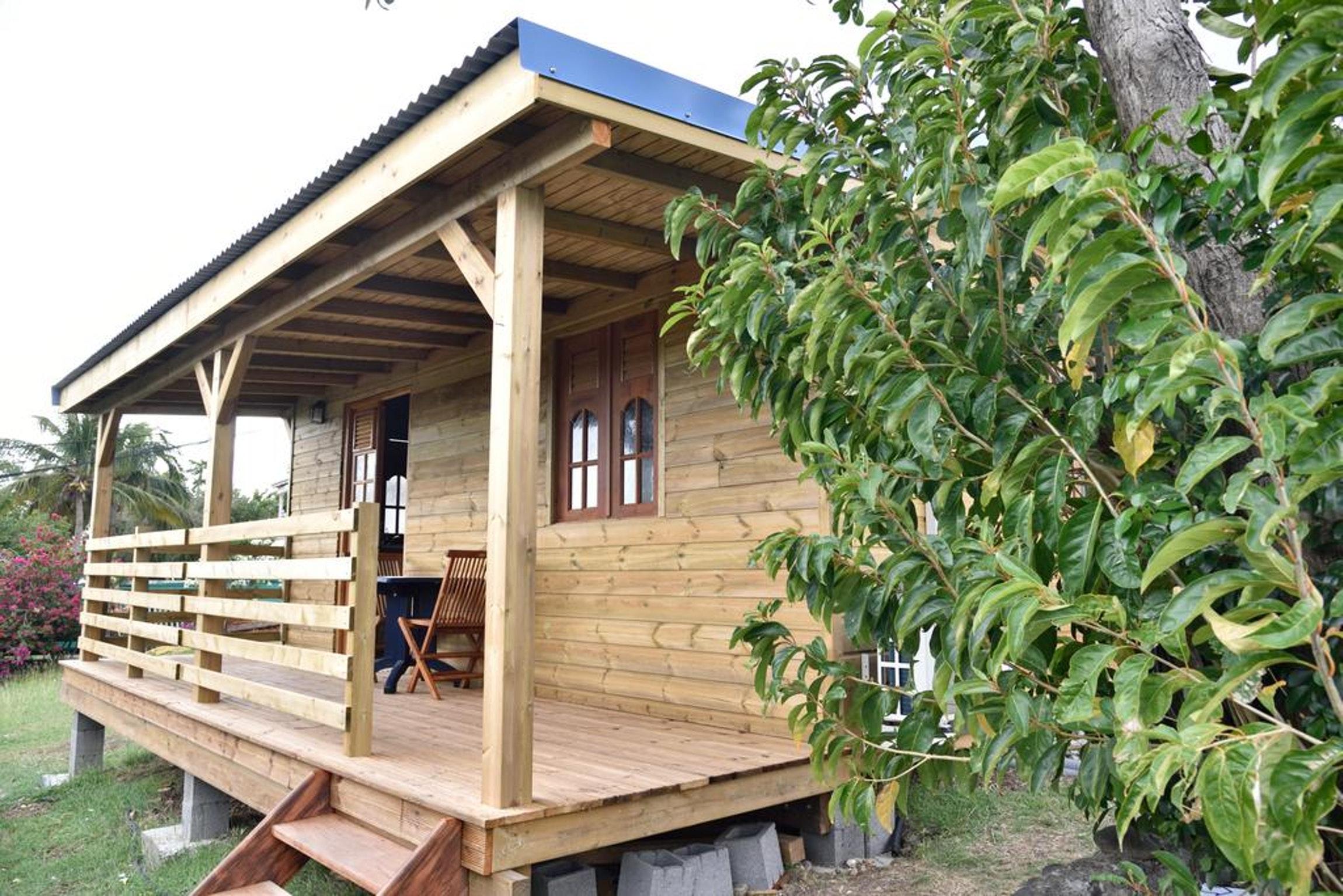 Hütte mit einem Schlafzimmer in Bouillante mi Ferienhaus in Guadeloupe