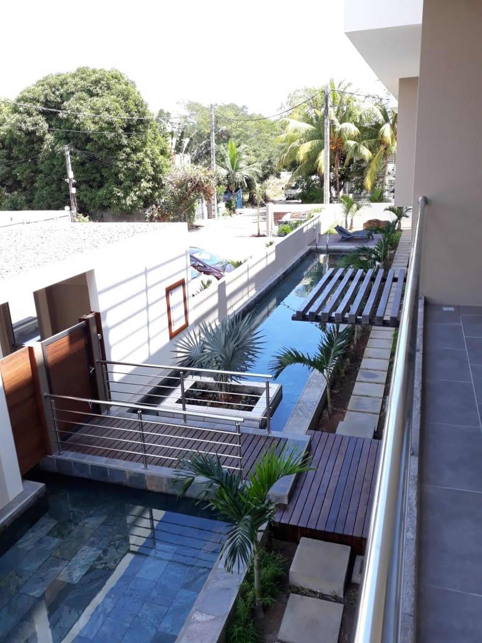 Wohnung mit 2 Schlafzimmern in Flic en Flac mit Po Ferienwohnung in Afrika