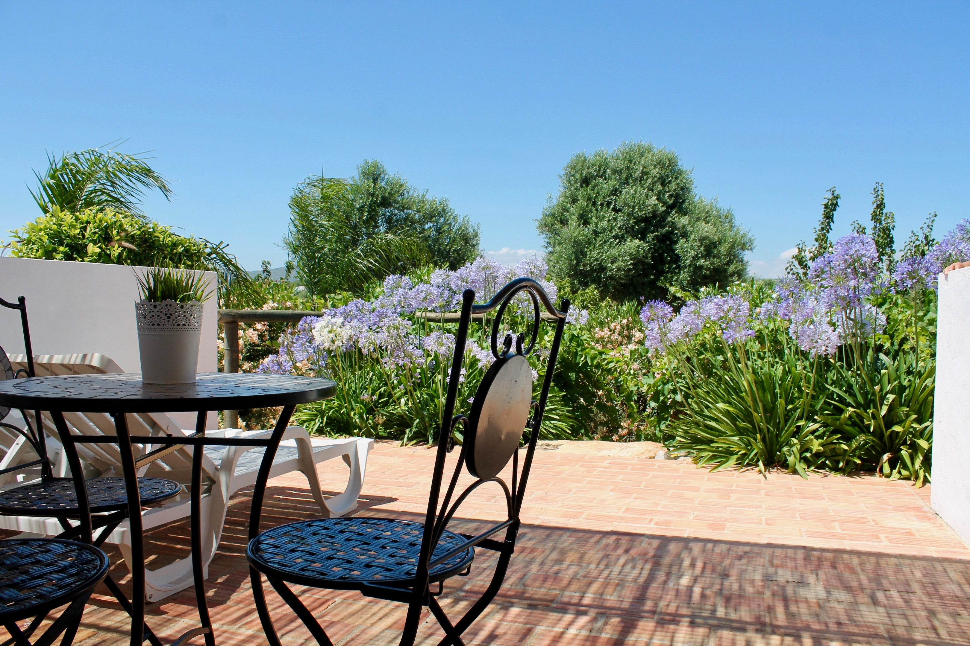 Studio in Faro, with shared pool, enclosed garden and WiFi - 6 km from the beach