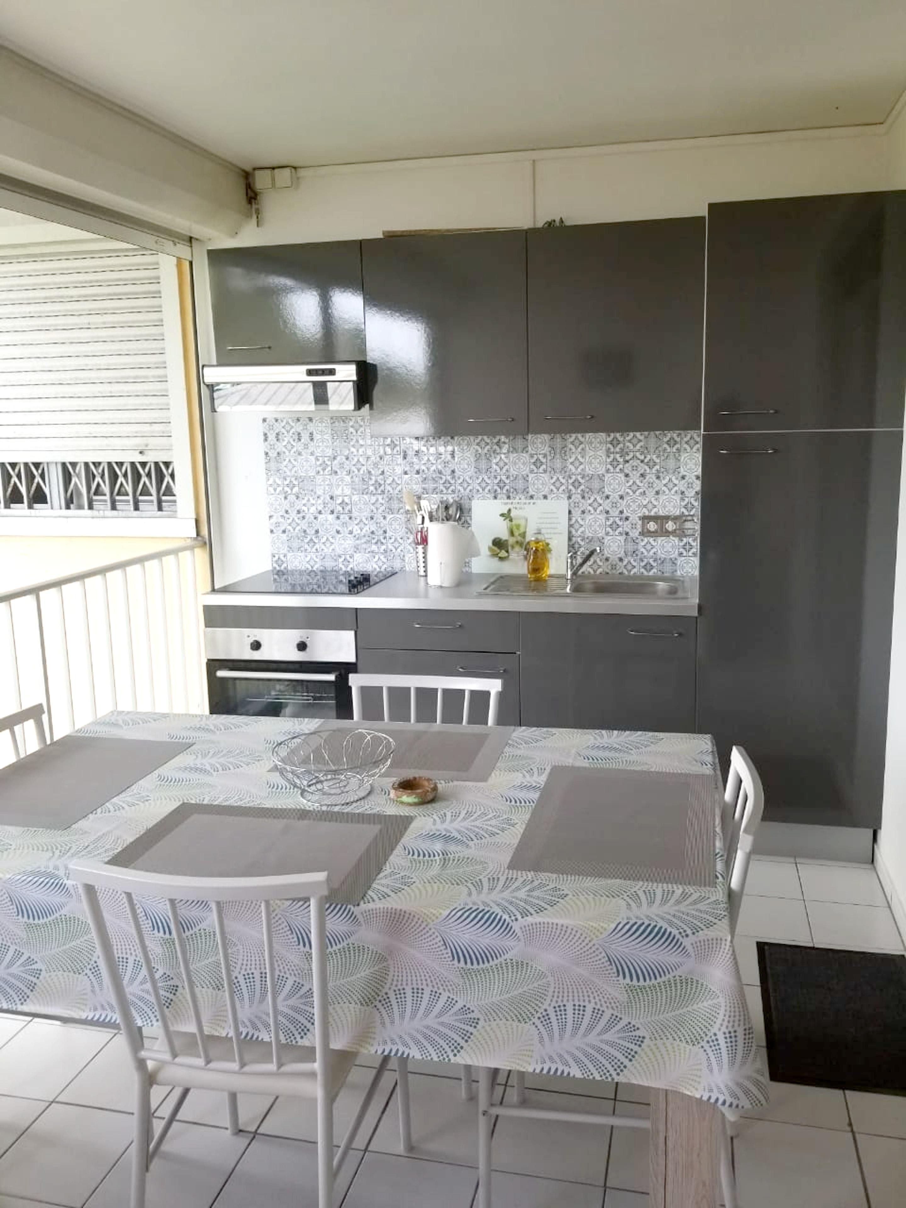 Wohnung mit einem Schlafzimmer in Le Gosier mit ei Ferienwohnung in Guadeloupe