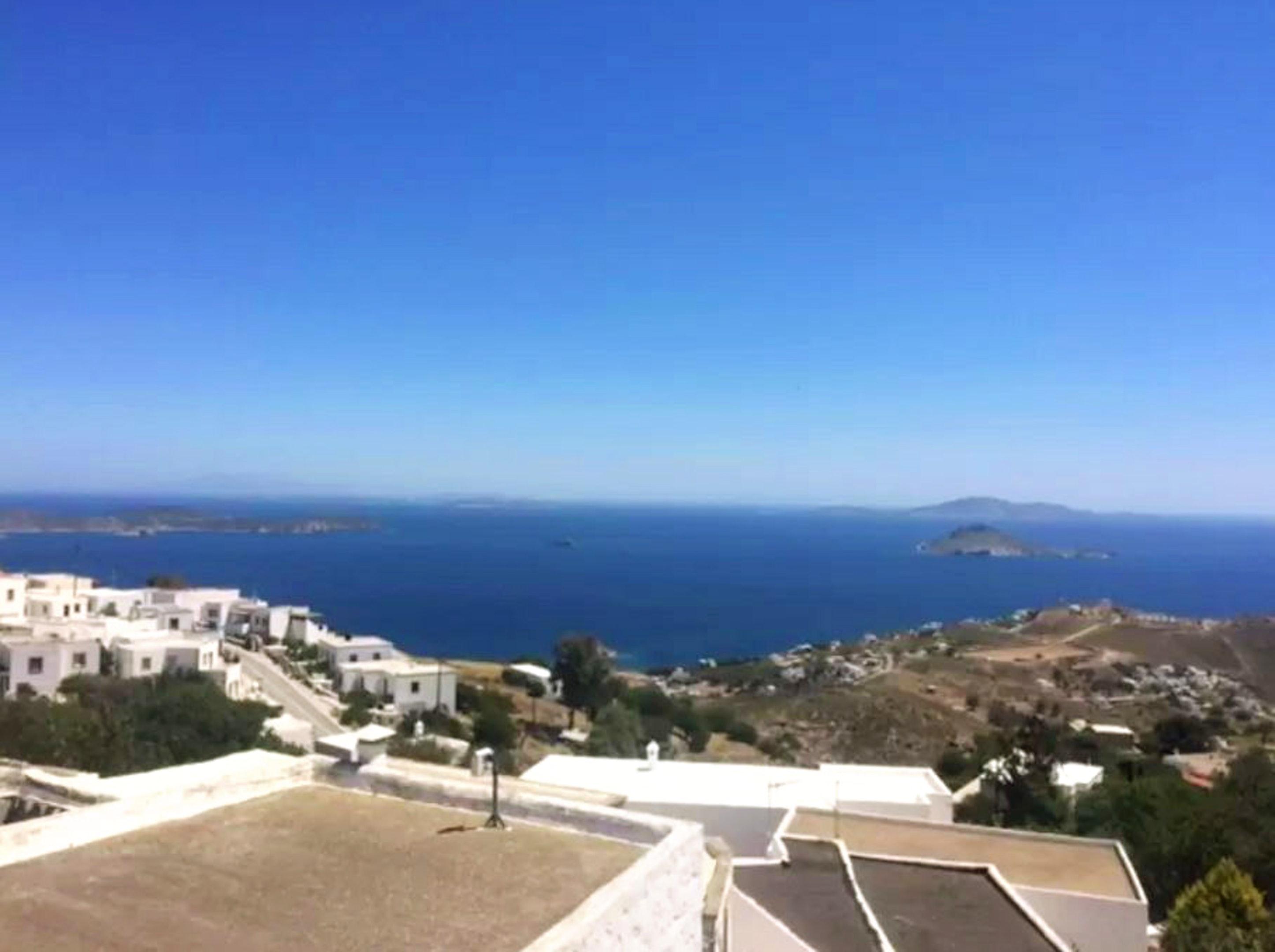 Haus mit 4 Schlafzimmern in Patmos mit herrlichem Meerblick Terrasse und W LAN 1 km vom Strand entfernt