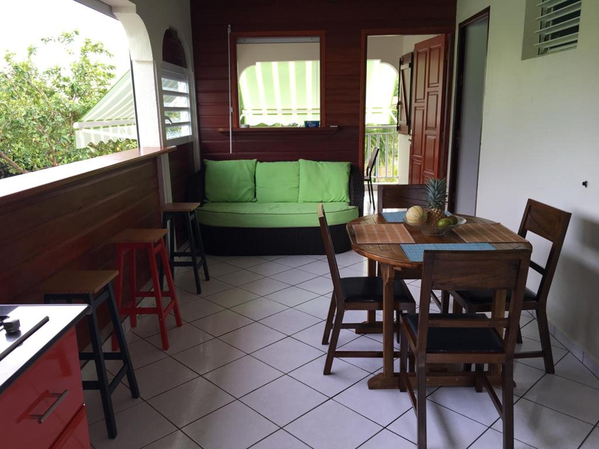 Wohnung mit 2 Schlafzimmern in Capesterre Belle Ea Ferienwohnung in Guadeloupe