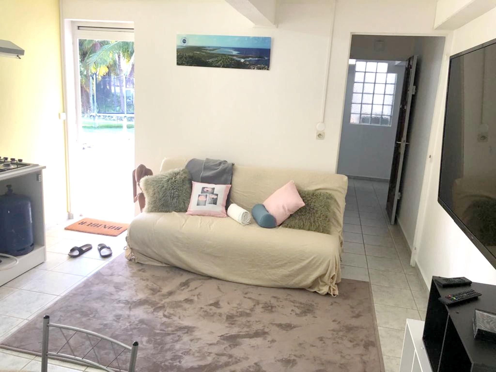 Wohnung mit einem Schlafzimmer in Les Abymes mit p Ferienwohnung in Guadeloupe