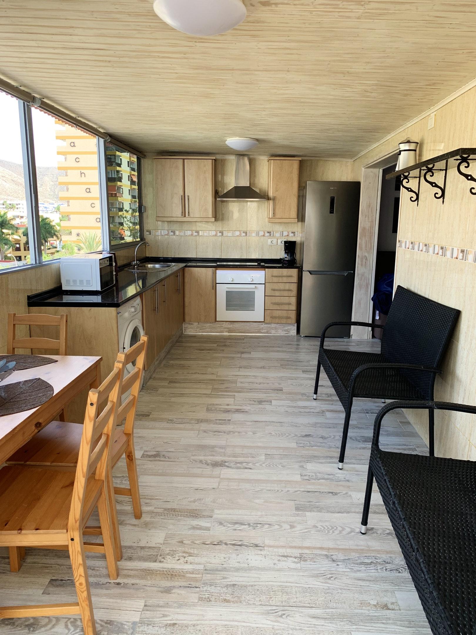 Appartement de vacances Wohnung mit 2 Schlafzimmern in Los Cristianos mit toller Aussicht auf die Berge, eingezäun (2202481), Los Cristianos, Ténérife, Iles Canaries, Espagne, image 12