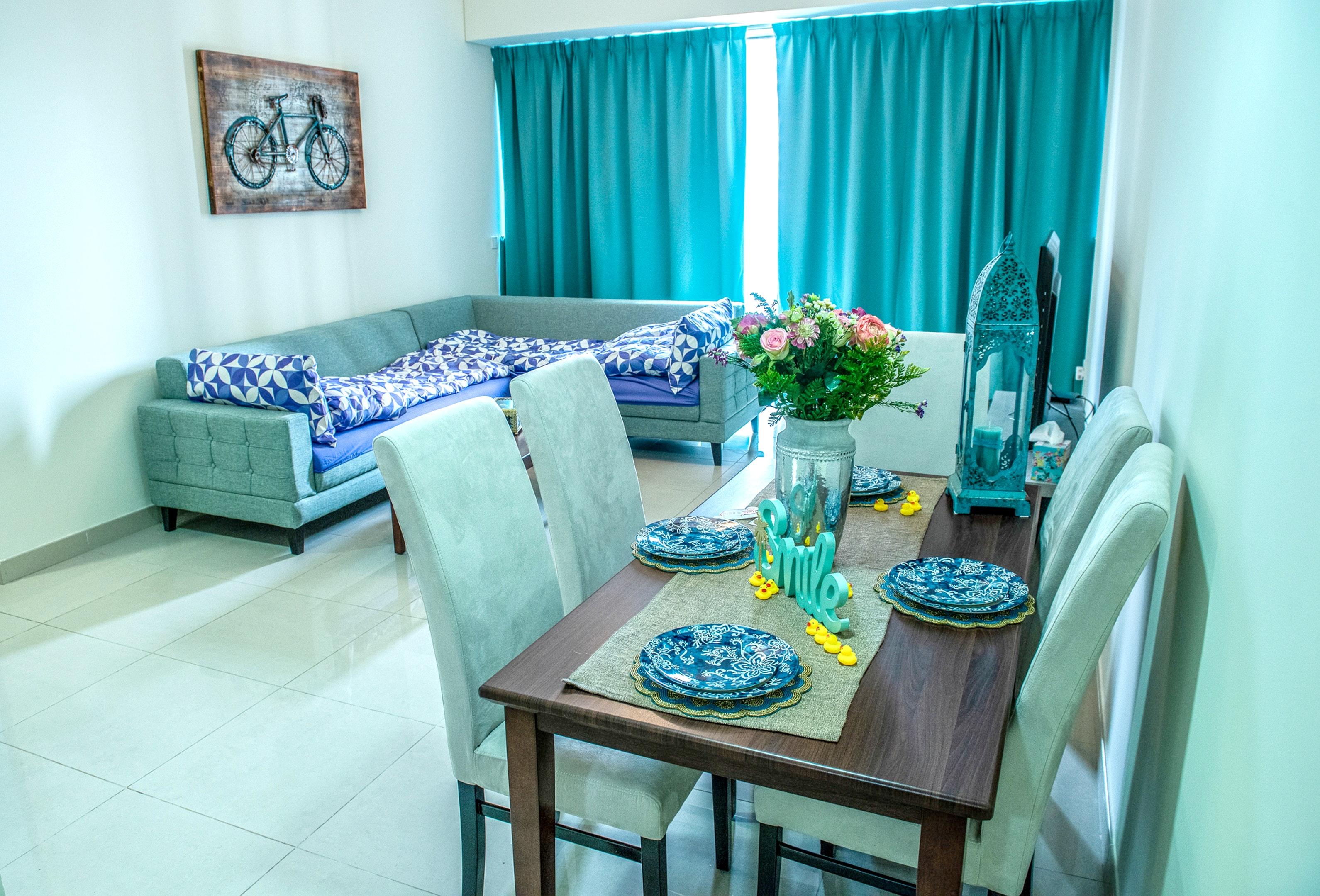 Wohnung mit einem Schlafzimmer in Dubai mit Pool,  Ferienwohnung in Asien und Naher Osten