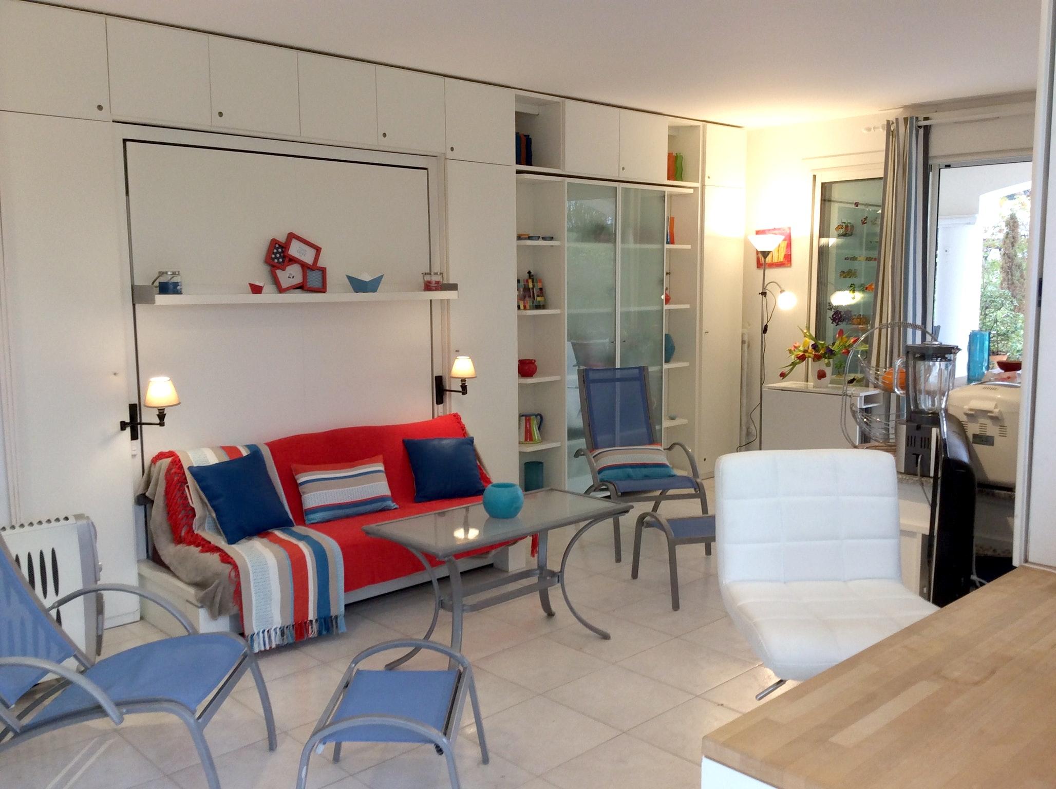 Appartement de vacances Wohnung mit einem Schlafzimmer in Carqueiranne mit Pool, eingezäuntem Garten und W-LAN - 7 (2231381), Carqueiranne, Côte d'Azur, Provence - Alpes - Côte d'Azur, France, image 8