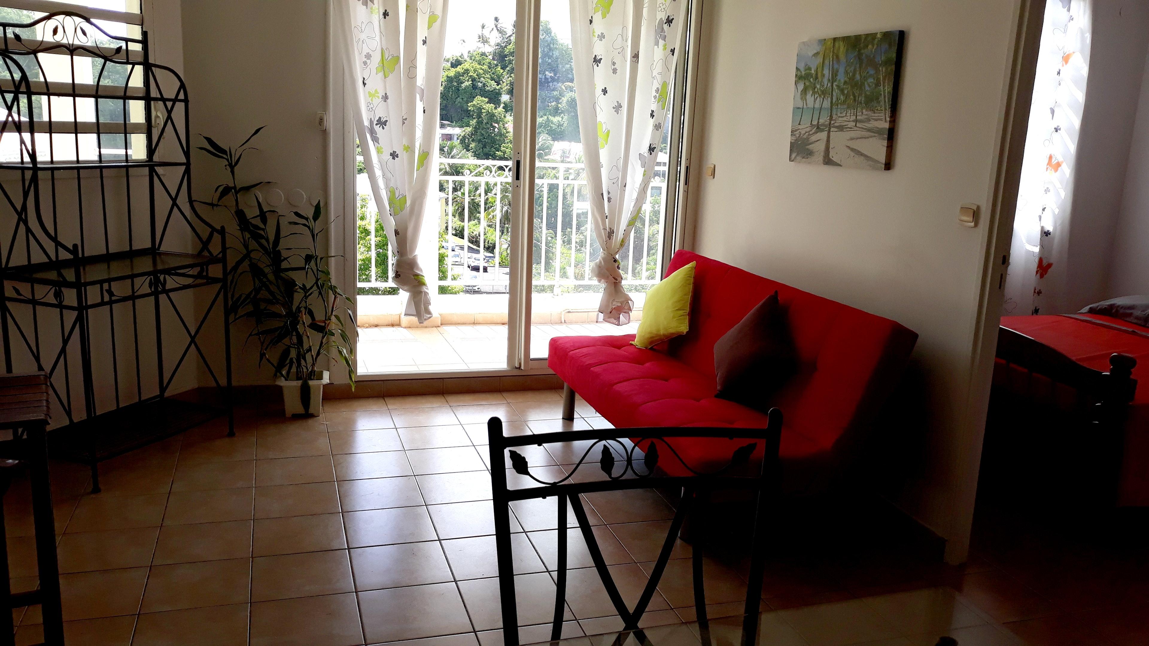 Wohnung mit einem Schlafzimmer in Les Abymes mit T Ferienwohnung in Guadeloupe