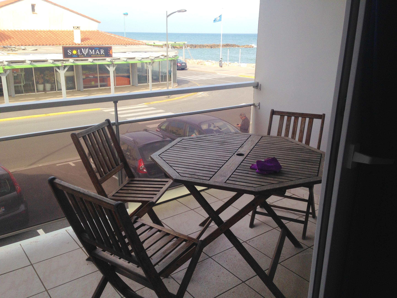 Wohnung mit einem Schlafzimmer in Sainte Marie mit herrlichem Meerblick und möbliertem Balkon 7 m vom Strand entfernt
