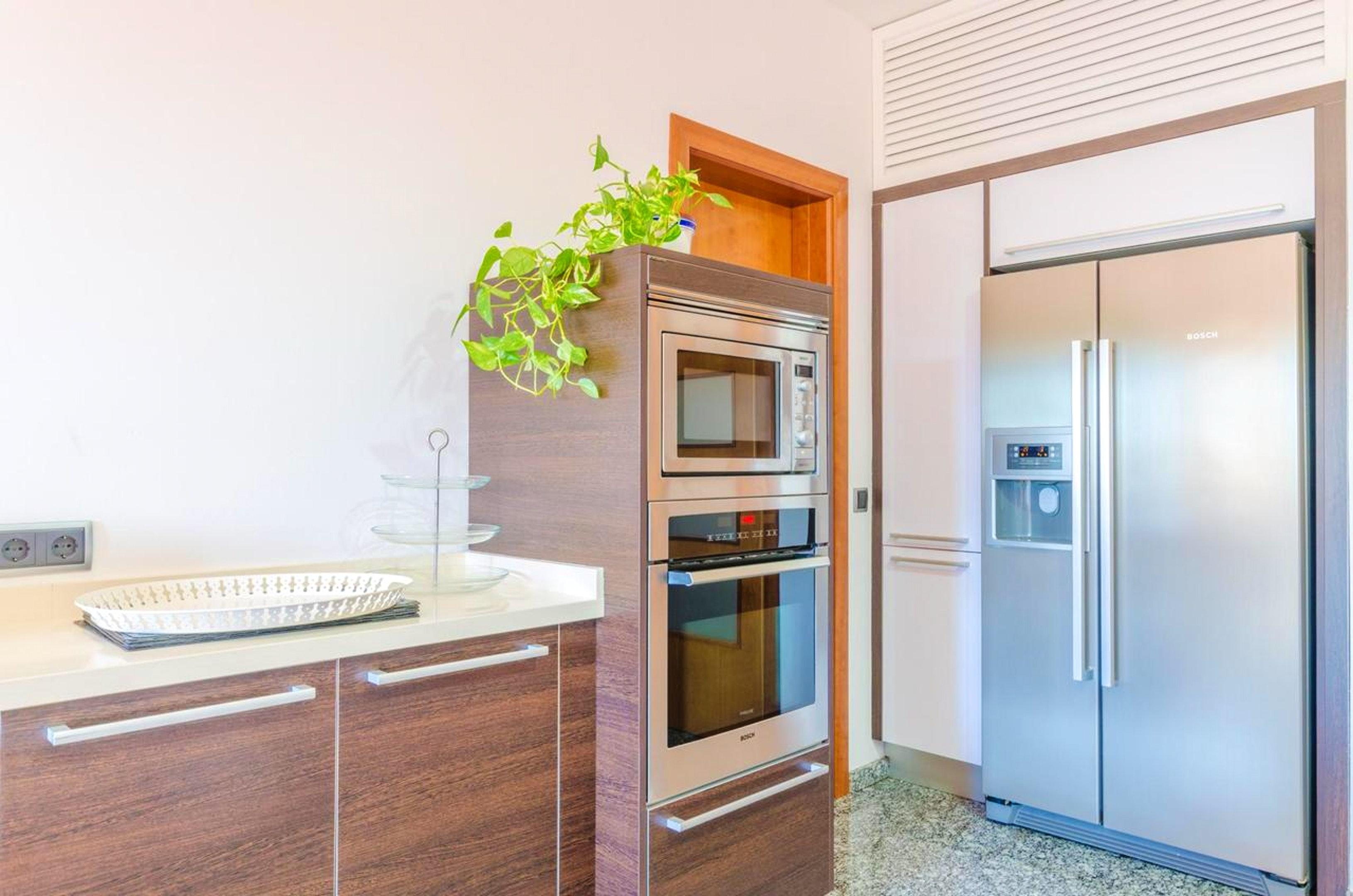 Villa mit 4 Schlafzimmern in Colonia de Sant Jordi mit herrlichem Meerblick privatem Pool möblierter Terrasse 8 km vom Strand entfernt