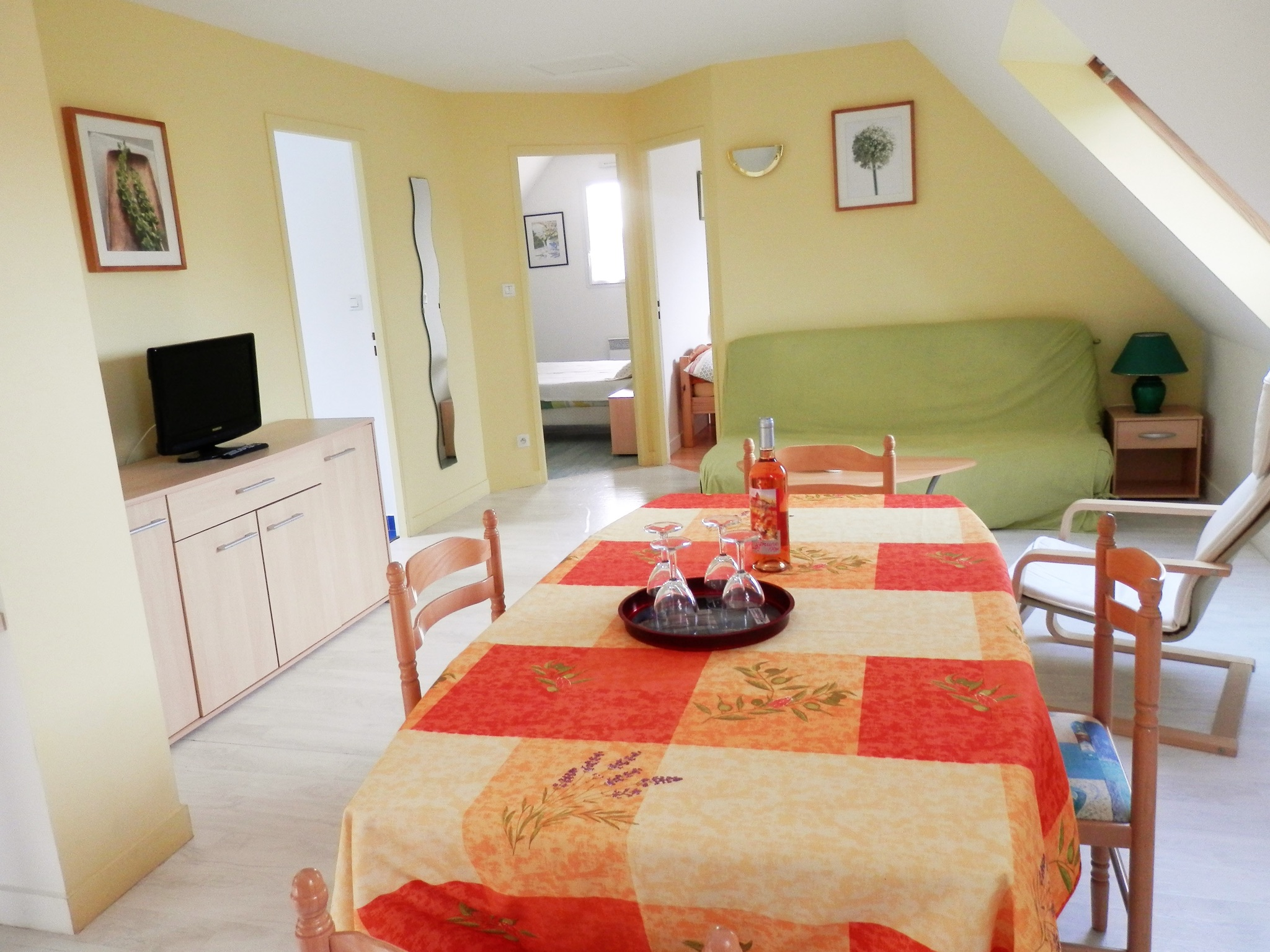 Holiday apartment Modernes wohnung in Arzon mit zwei Schlafzimmern, Terrasse und Blick auf die Stadt - für v (2201249), Arzon, Atlantic coast Morbihan, Brittany, France, picture 3