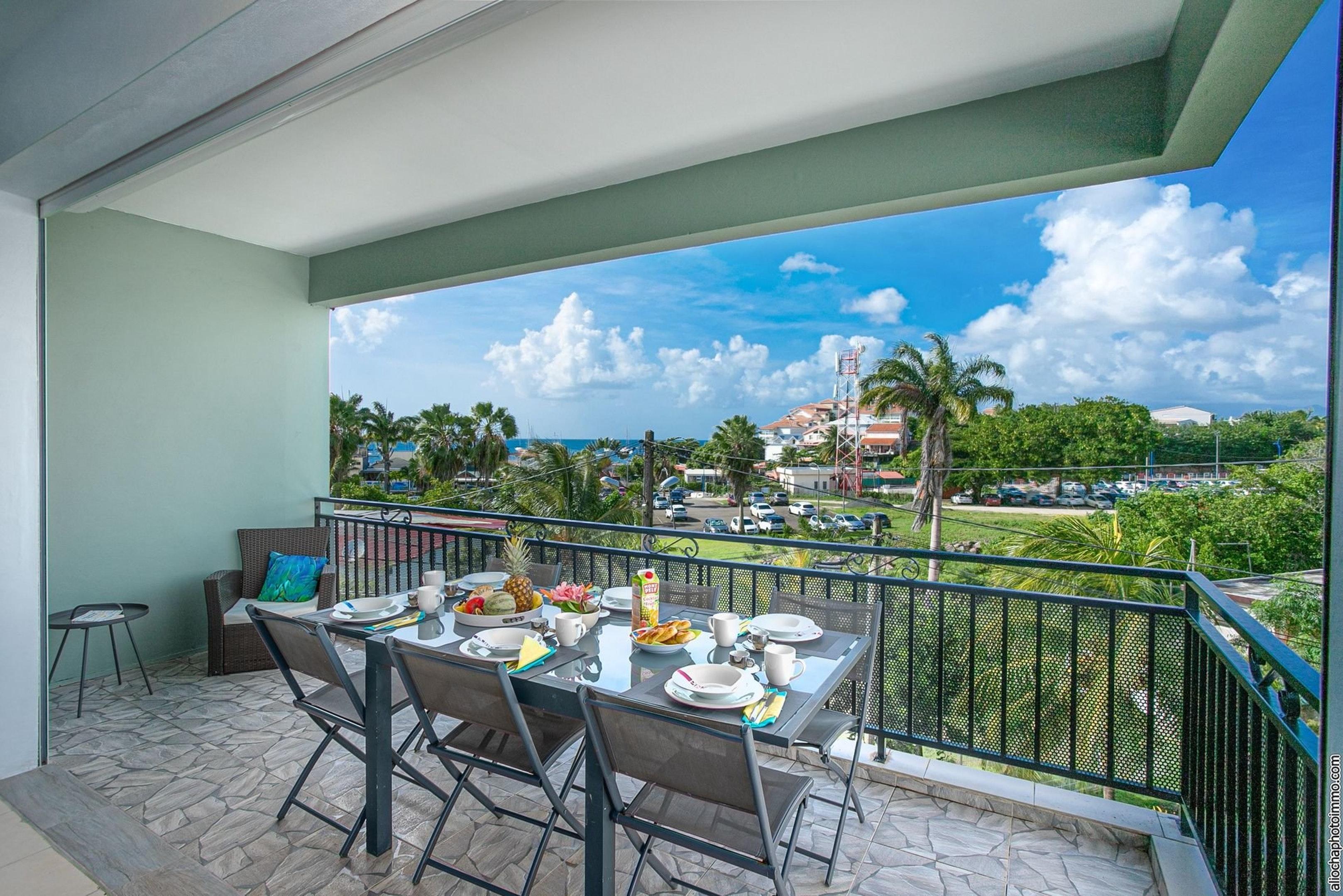 Wohnung mit 3 Schlafzimmern in Les Trois-Îlets mit herrlichem Meerblick, Terrasse und W-LAN - 50 m vom Strand entfernt