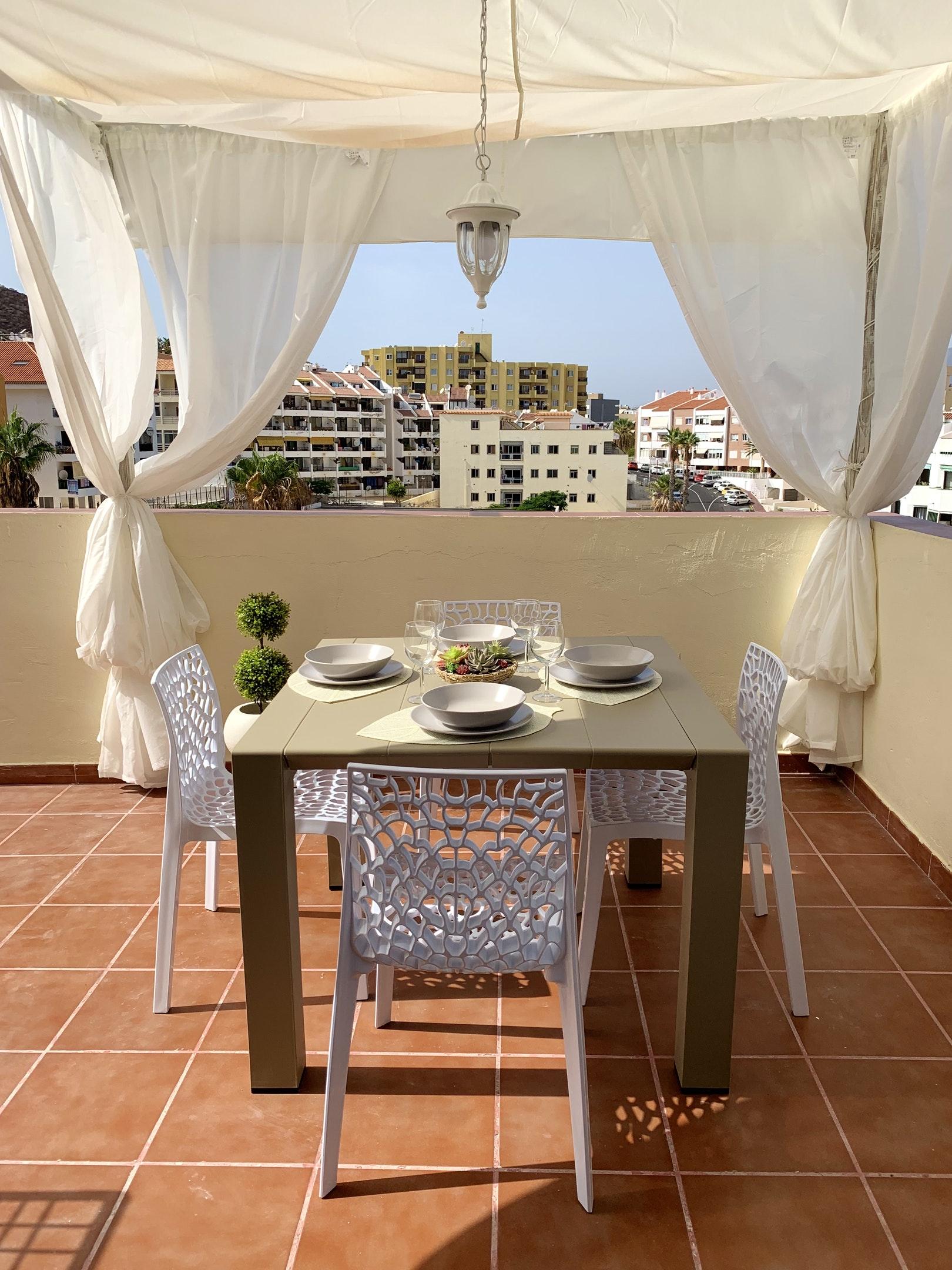 Appartement de vacances Wohnung mit 2 Schlafzimmern in Los Cristianos mit toller Aussicht auf die Berge, eingezäun (2202481), Los Cristianos, Ténérife, Iles Canaries, Espagne, image 14