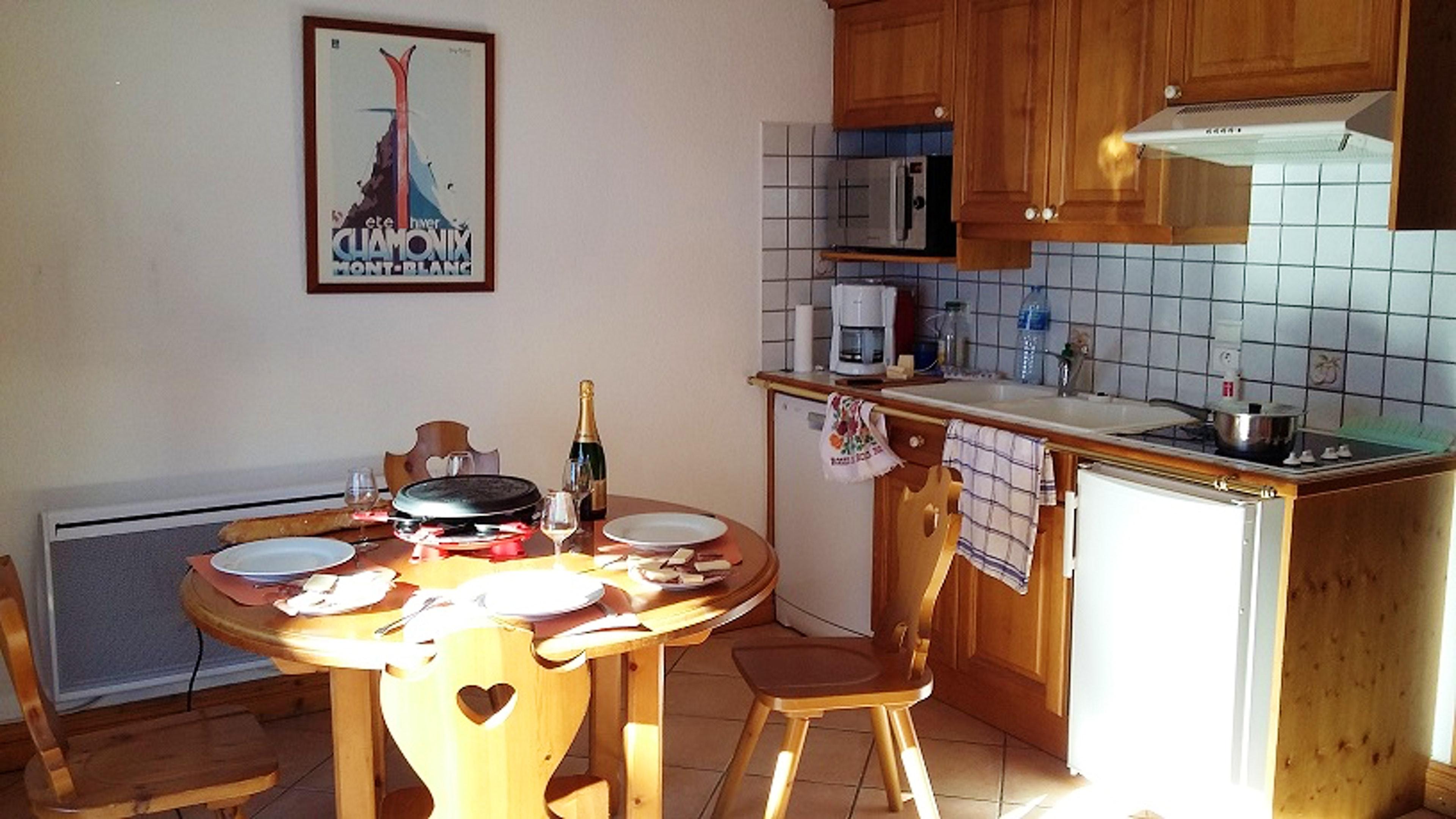 Ferienwohnung Wohnung mit einem Schlafzimmer in Les Houches mit toller Aussicht auf die Berge, Pool und  (2591443), Les Houches, Hochsavoyen, Rhône-Alpen, Frankreich, Bild 8