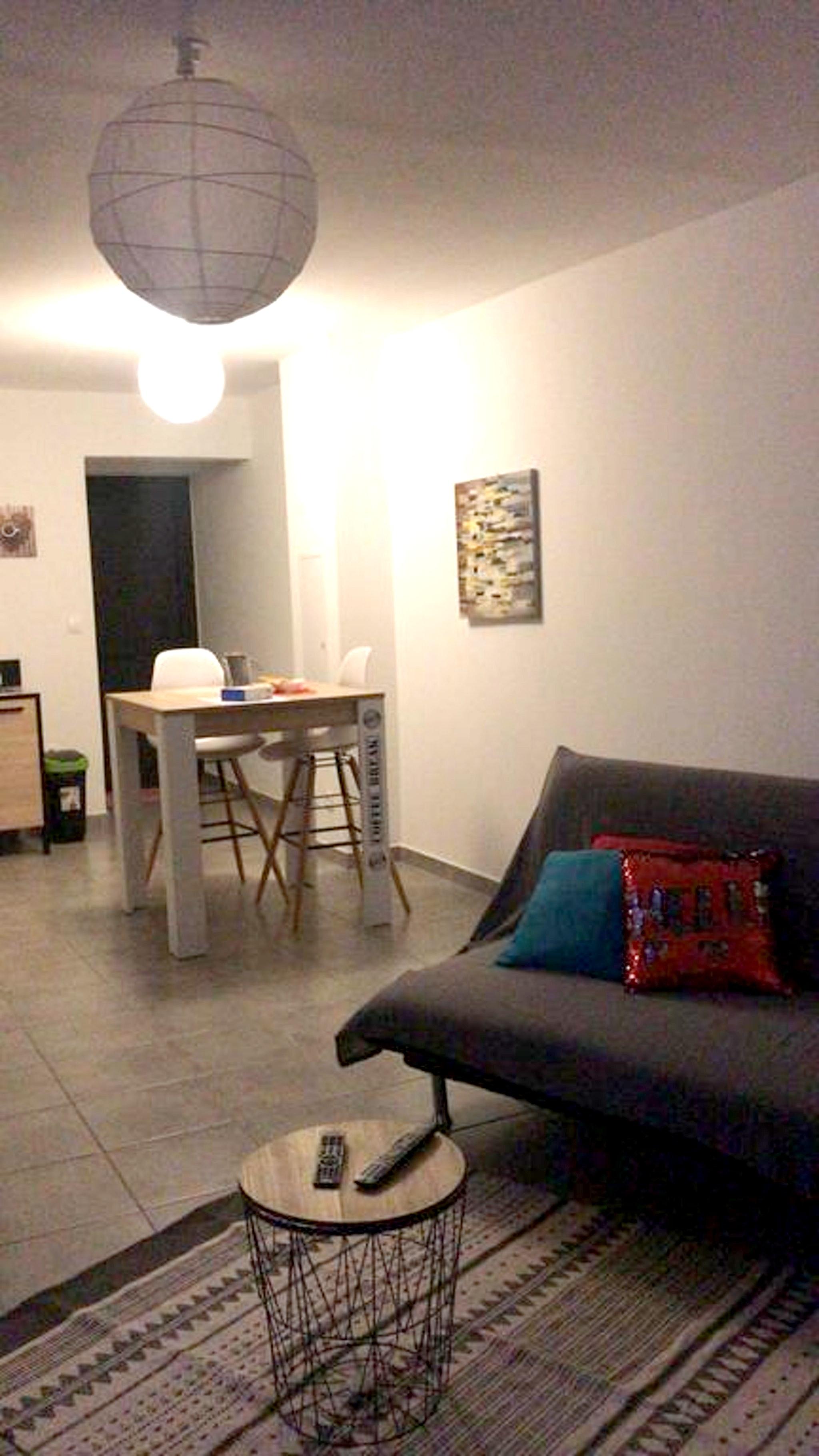Wohnung mit einem Schlafzimmer in Saint-Leu mit he Ferienwohnung in Afrika