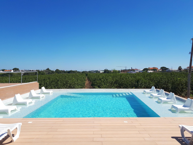 Studio in Faro mit Pool, eingezäuntem Garten und W-LAN - 6 km vom Strand entfernt