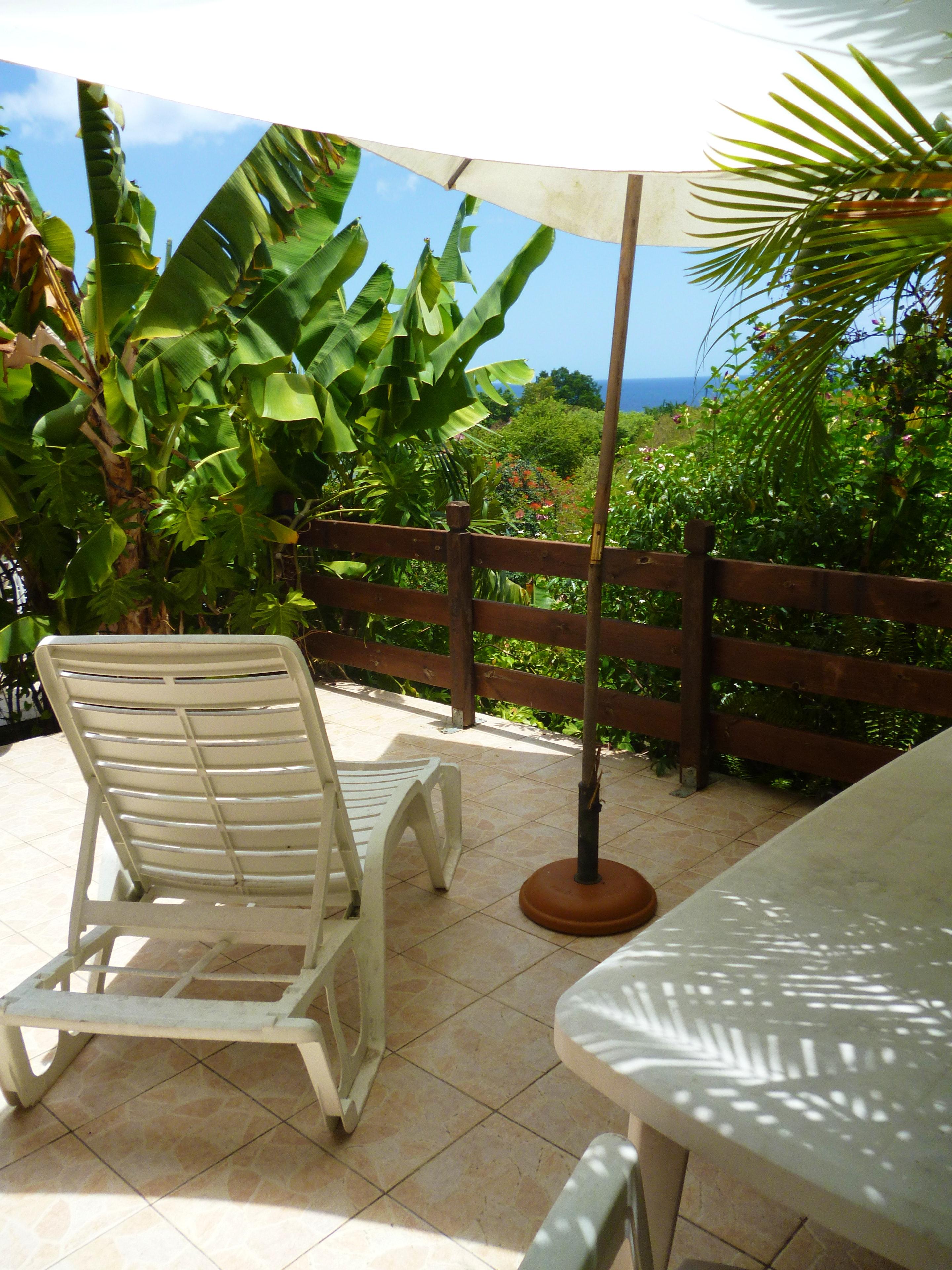 Studio in Marigot mit herrlichem Meerblick, eingez Ferienwohnung in Guadeloupe