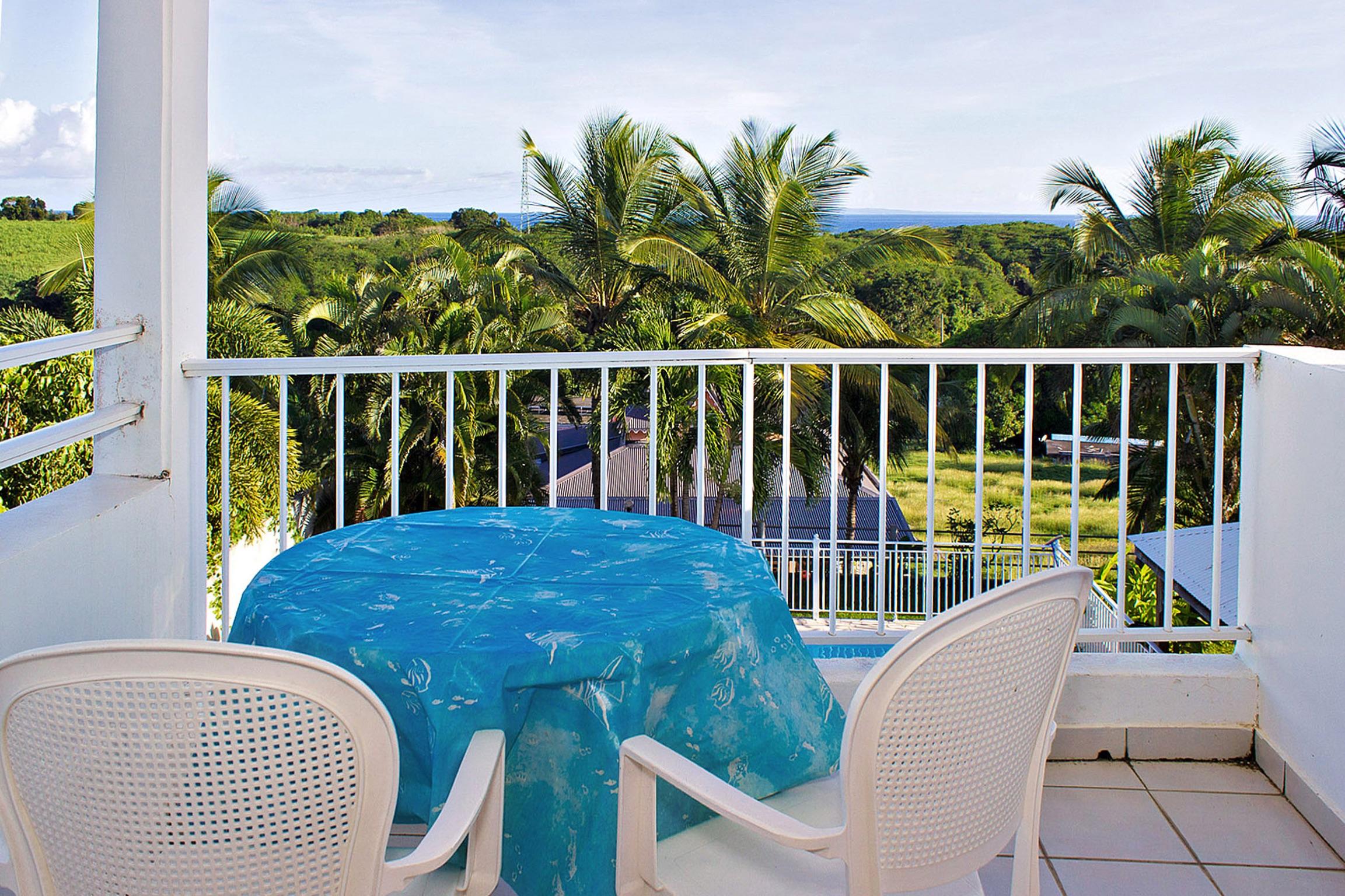 Verträumte Studio mit Meerblick, auf der Fran Ferienwohnung in Guadeloupe
