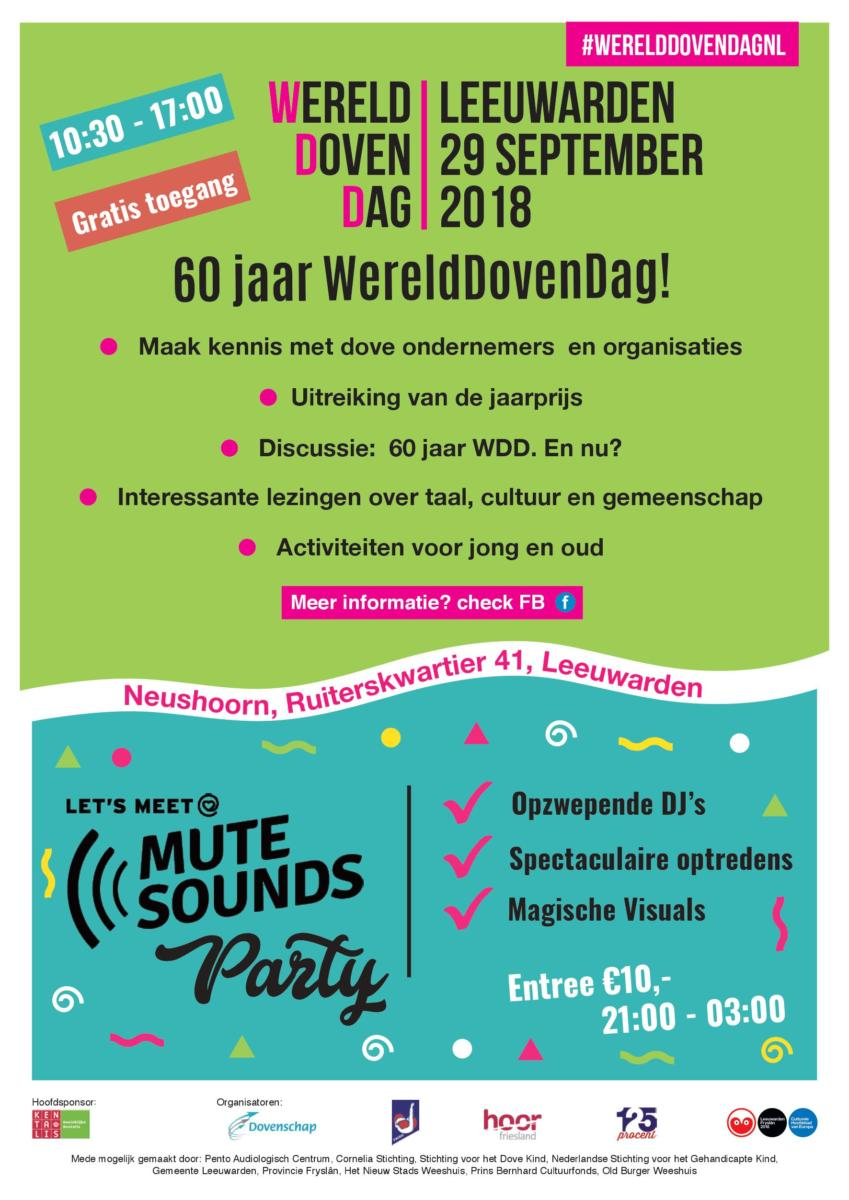 Zaterdag 29 september WereldDovenDag in Leeuwarden!