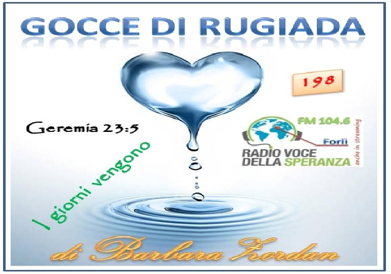 Gocce di Rugiada 198 (I giorni vengono)