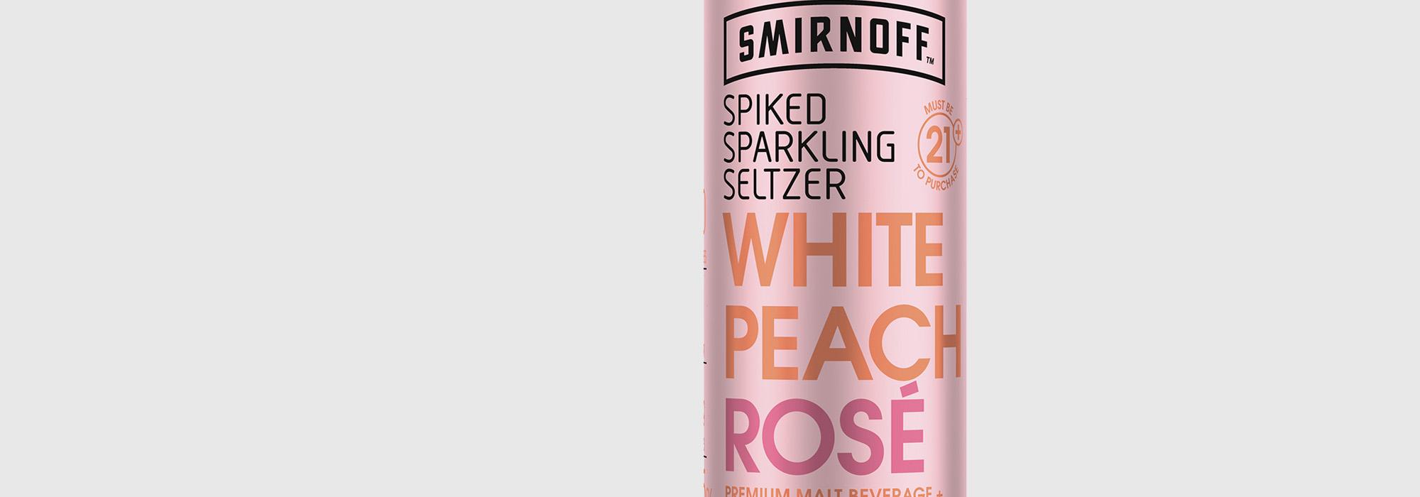 Smirnoff Seltzer White Peach Rosé   Smirnoff - US