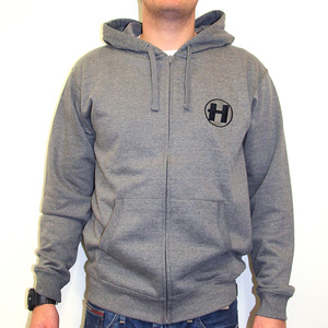 Hospital Records – Grey Zip Hoody