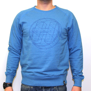 Hospital Records – Geometric Sweat Mid Blue