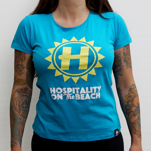 Hospital Records – Hospitality On The Beach Tour Tee - Womens