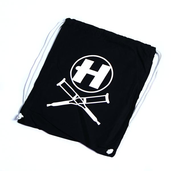 Hospital Records – Black Drawstring Bag